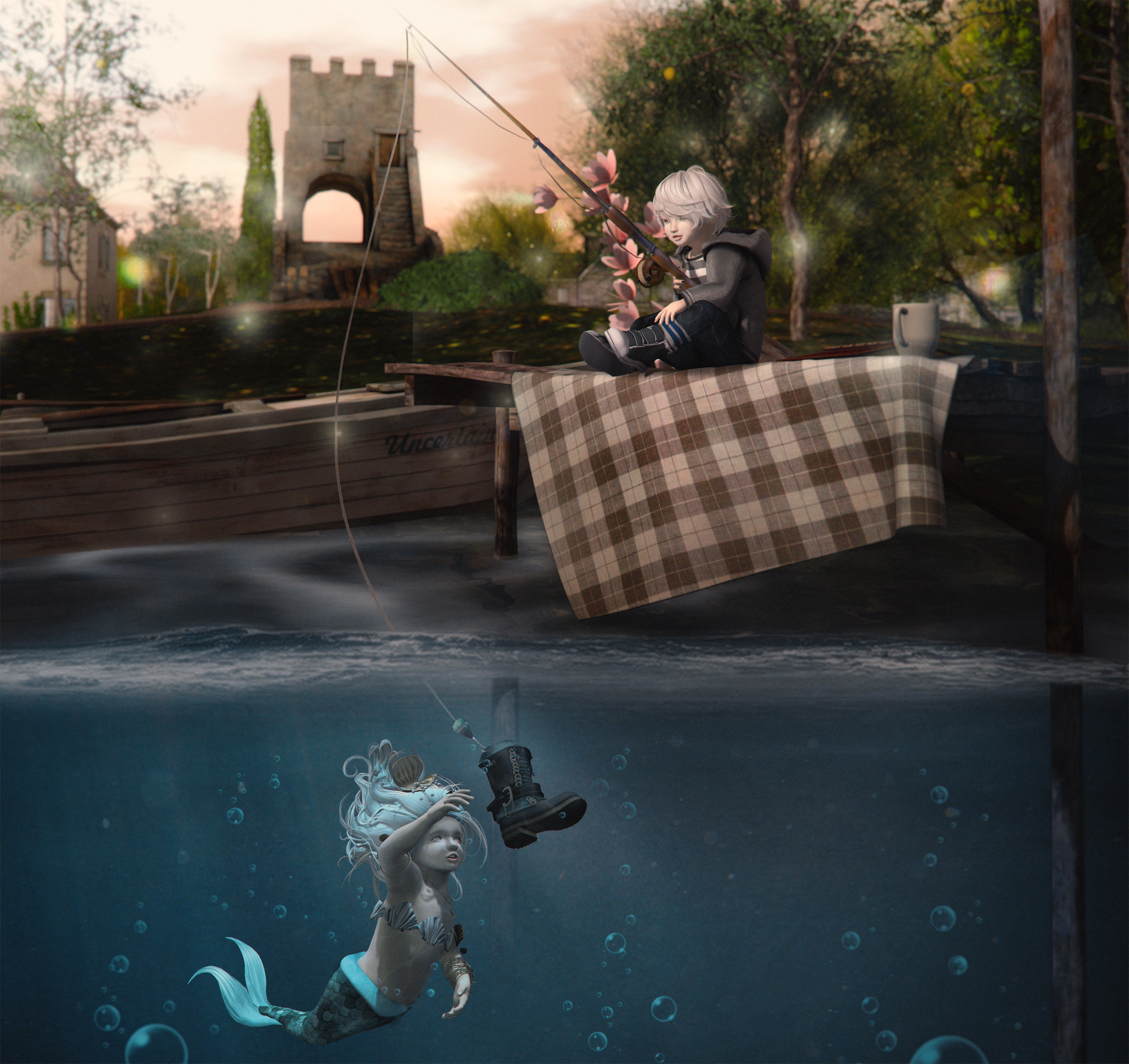 Fishing Mermaids - smaller
