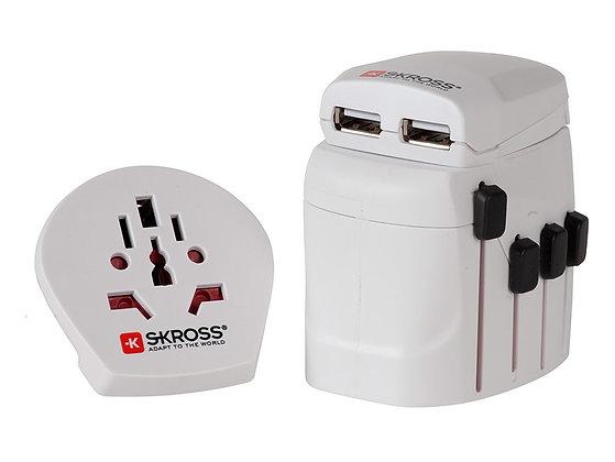 Reiseadapter SKROSS PRO World & USB