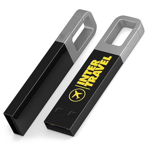 e811863208375 Anhänger mit Karabinerhaken zur Befestigung des USB-Sticks an einem  Schlüsselanhänger