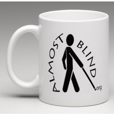 Almost Blind Coffee Mug w\Ovel Logo
