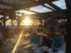 coucher de soleil plage, salle restaurant