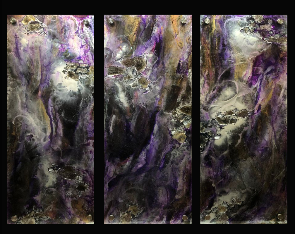 Purple Wave ~ Triptych