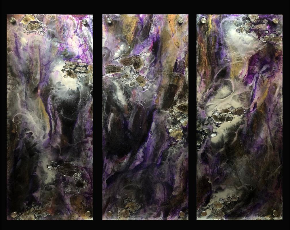 Purple Wave ~ Triptych