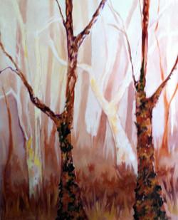 Sienna Fogged Trees