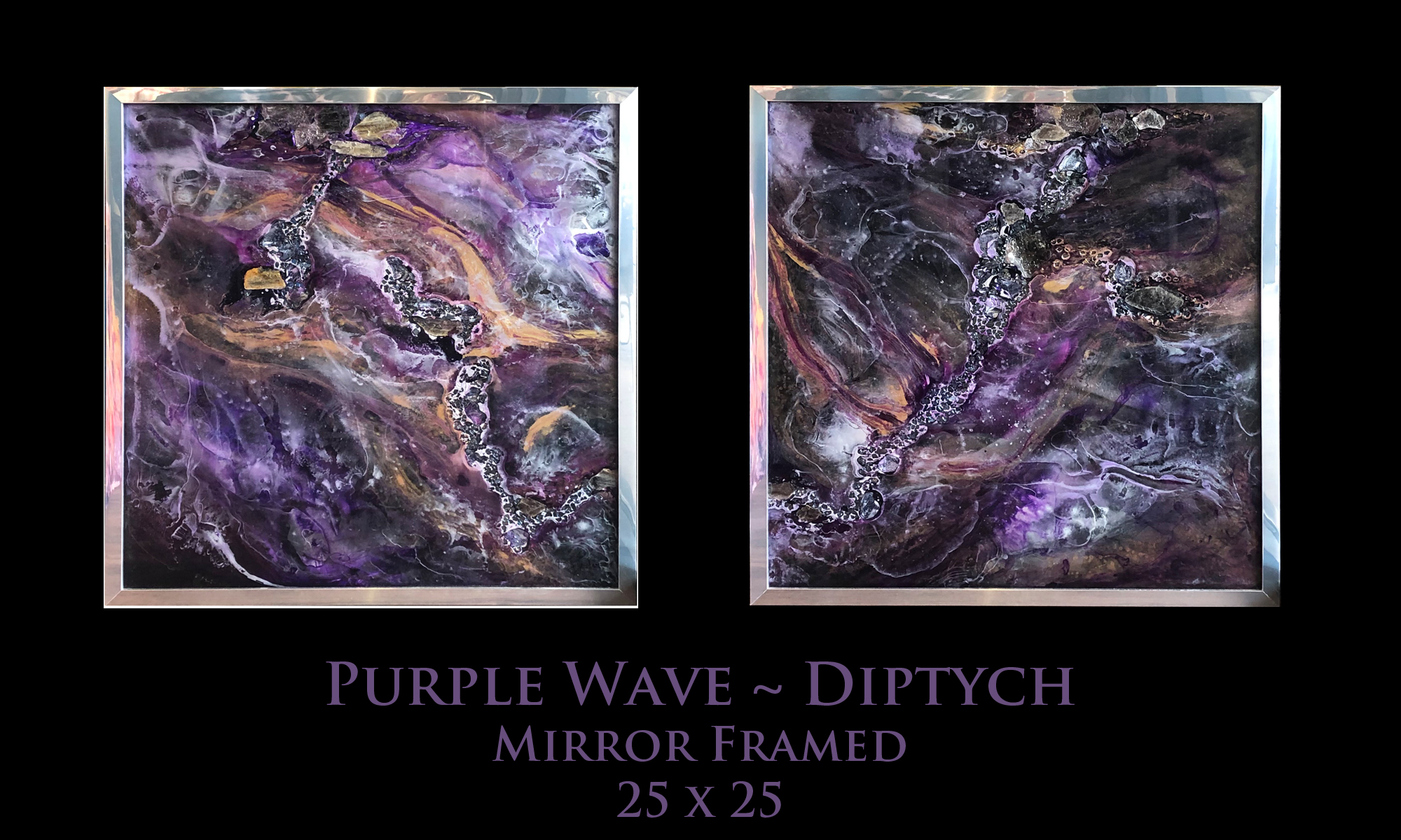 Purple Waves ~ Diptych