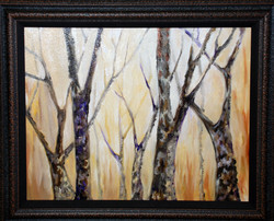 Hickory Trees with Yellows