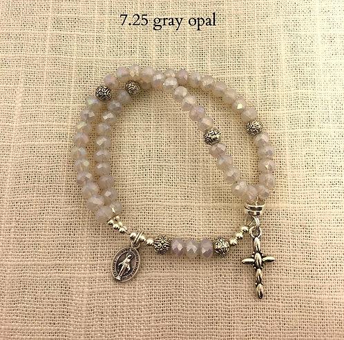 4x6mm Gray Opal Crystal