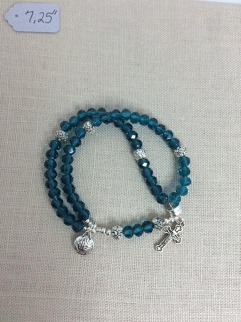 4x6mm Blue Zircoin Crystal