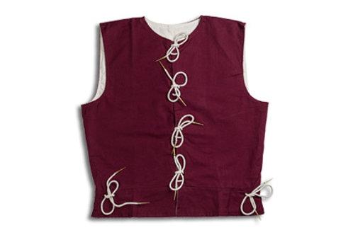 Men's Cotton Waistcoat - Maroon - GB4140 - GB4141 - GB4142 - GB4143