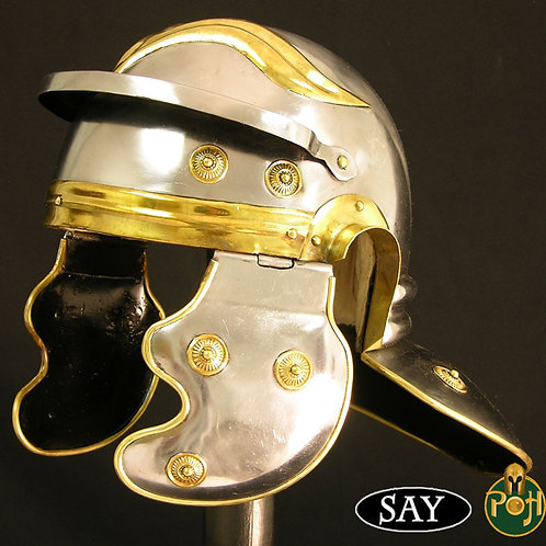 Roman Helmet without Hair Crest - 18g - AB1434