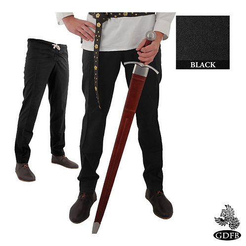 Drawstring Waist Button Front - Tapered Ankle Trouser - Cotton - (GB3870-GB3892)
