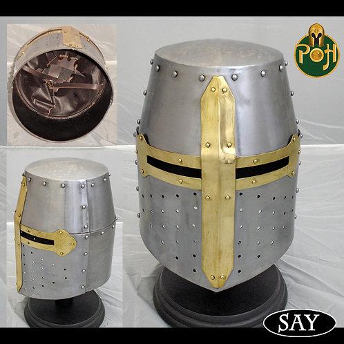 Crusader Helm - Helmet - 16g - AB1508