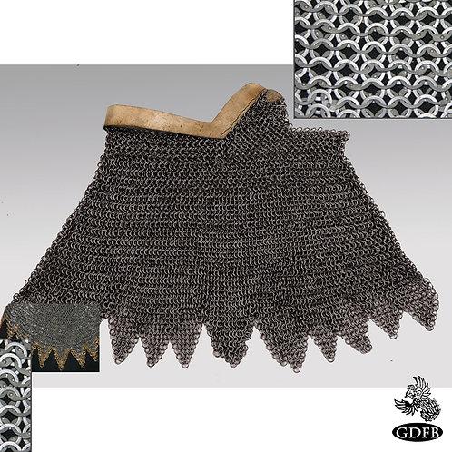 Aventail Bronze Edge - Dagged - Chainmail - Baron Grade - Code 5  - AB2642