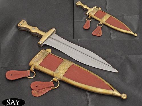Puggio Dagger with Leather Scabbard - SB2127