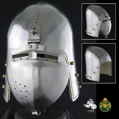 Klappviser Bascinet Helmet - 14g - AB0428