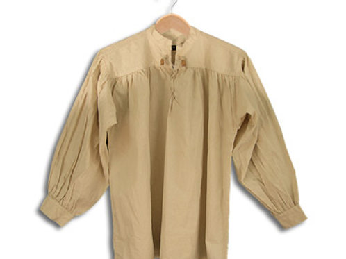 Natural Cotton Shirt with Laced Neck (GB3037)
