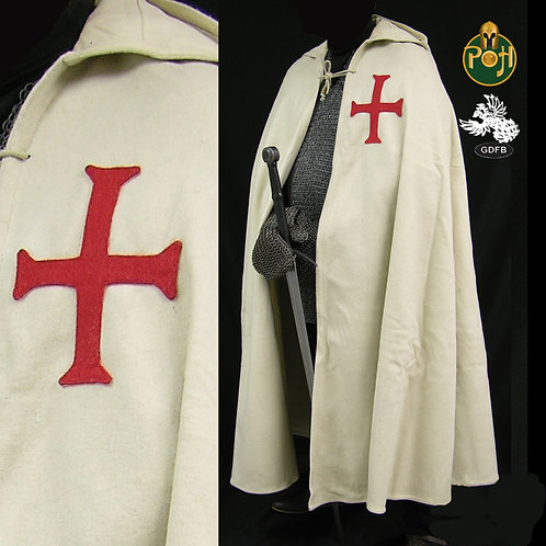 Templar Cloak - Natural with Red Cross - GB0210