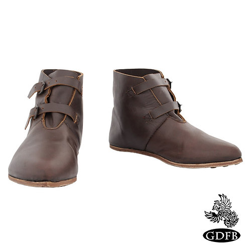 13th C Soldiers Shoes with 2 Buckles - GB1009