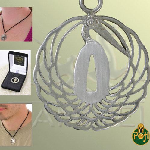 Dancing Crane Tsuba Pendant (Solid Silver) - OH3032