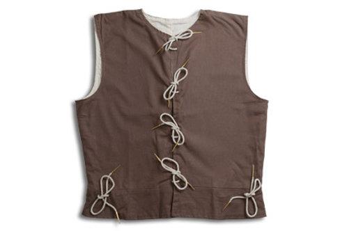 Men's Cotton Waistcoat - Brown