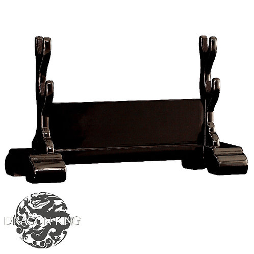 Double Sword Stand, Black Lacquer - OD52120