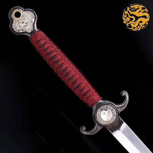 One Piece Jian Sword with Yin Yang Motif - SD15050-TJ