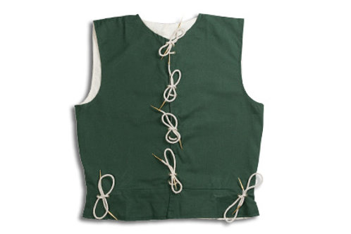 Men's Cotton Waistcoat - Green