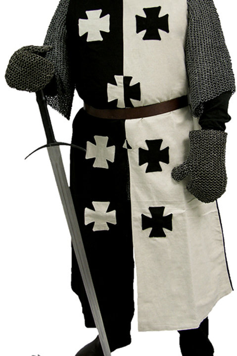 Black and White Crusader Surcoat - GB0205