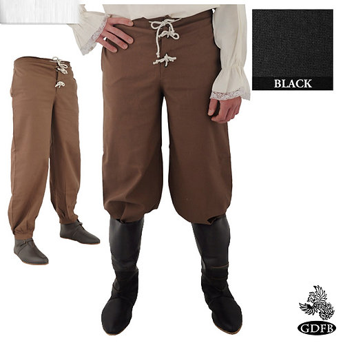 Drawsting Waist and Button Front Trouser - Cotton - (GB3733-GB3751)