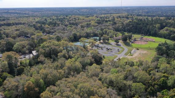 aerial shot of spirit park