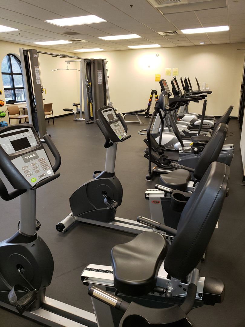 Stationary bikes and ellipticals
