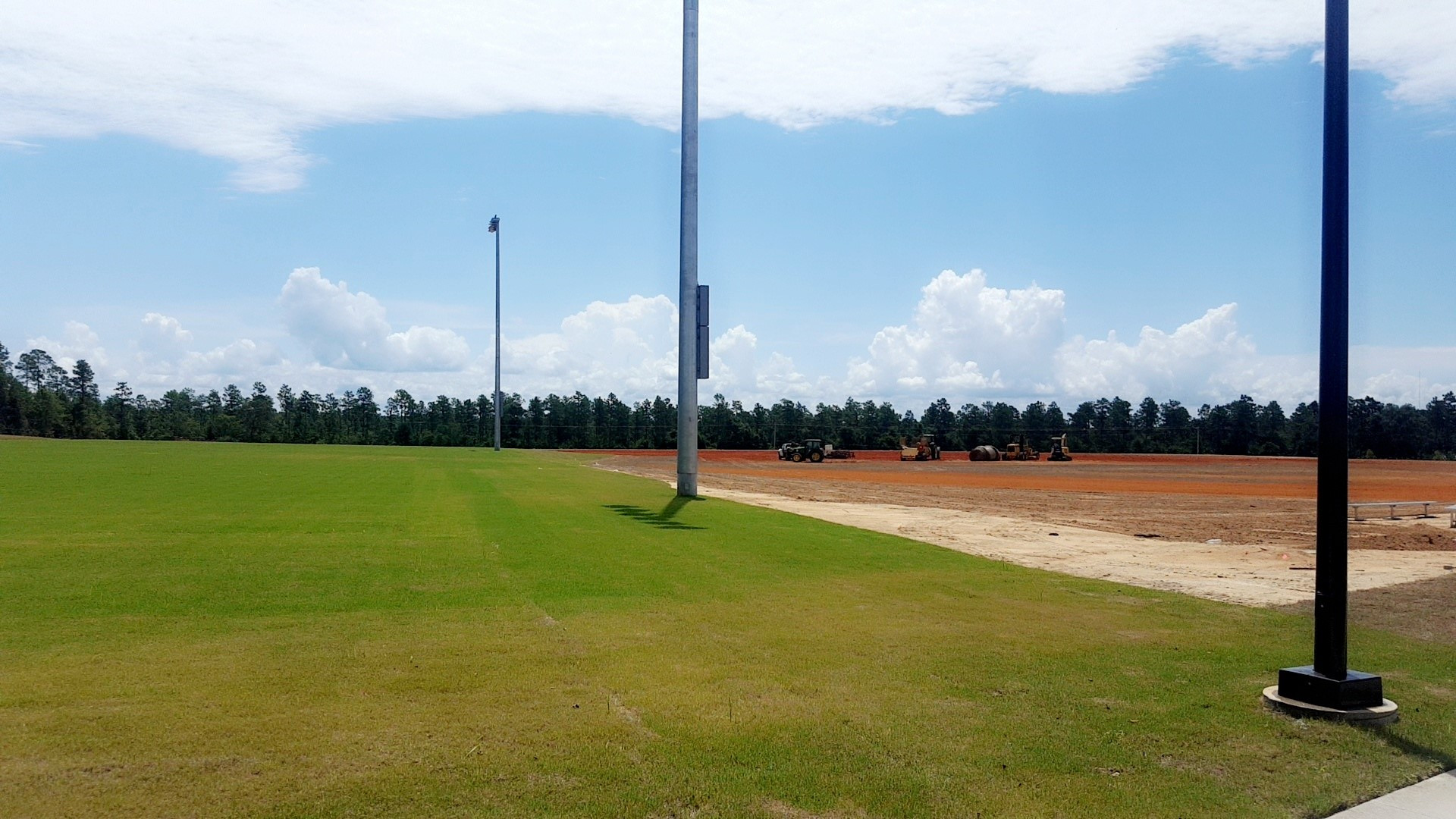 field being installed at integrity park