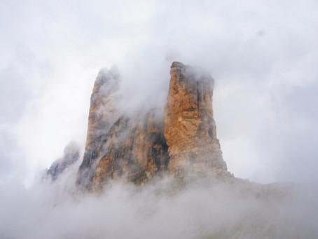 Když padla mlha na Tre Cime di Lavaredo
