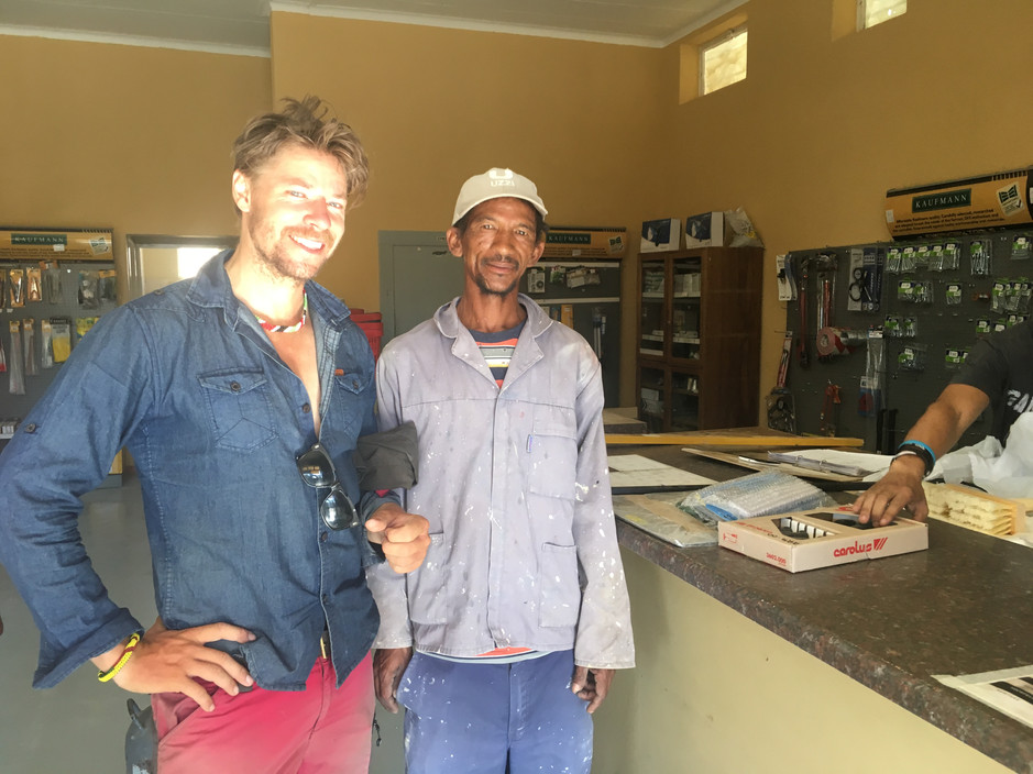 A Namibian black worker
