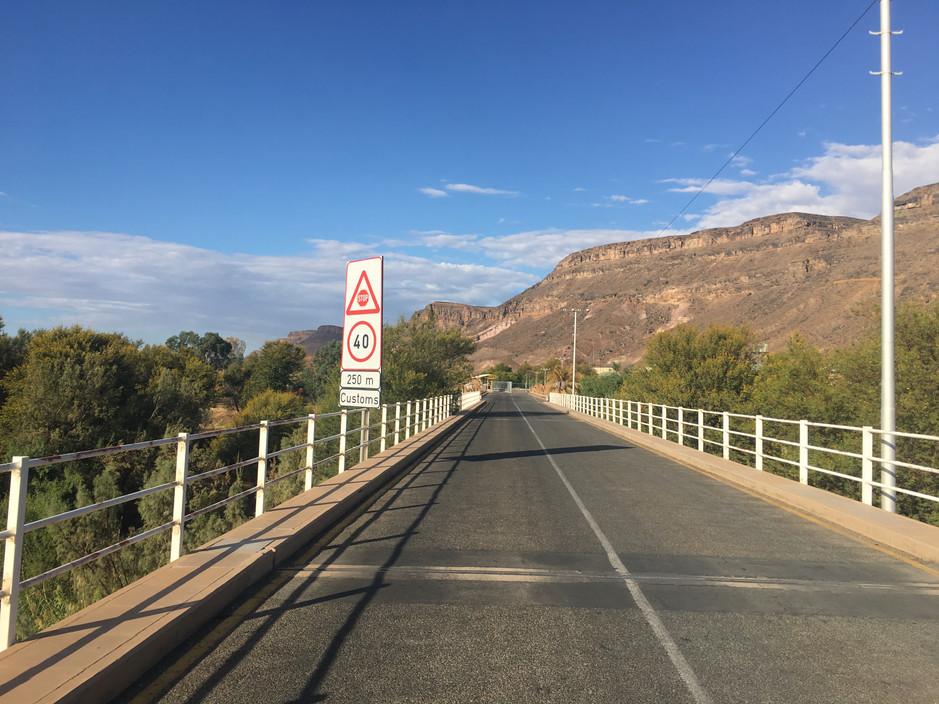 Leaving Namibia