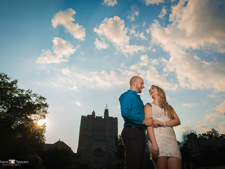 Aline & John - Engagement session - Yale New haven