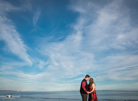 Melissa & Adam - Engagement Session At Harkness Park