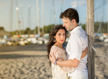 Paula & Marko - Engagement session - Fairfield Beach, CT