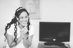 Wedding bride smiling