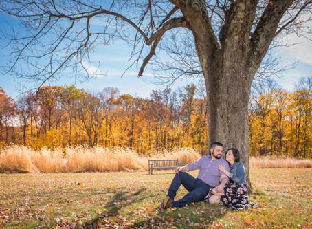 Cristina & Adam - Engagement session at Waveny Park, CT