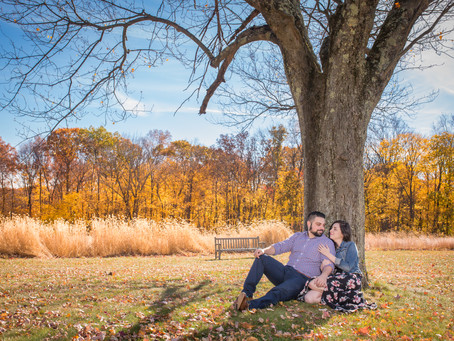 Cristina & Adam - Engagement session at Waveny Park, CT