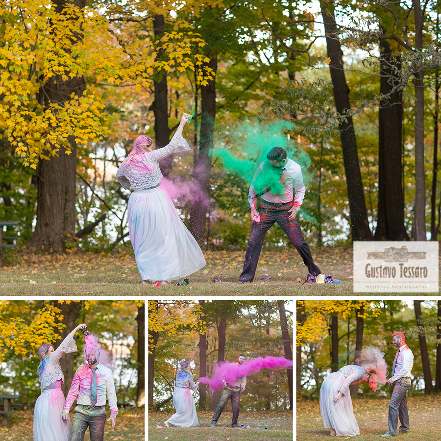 Trash the dress montage wedding