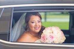 Wedding bride looking at camera