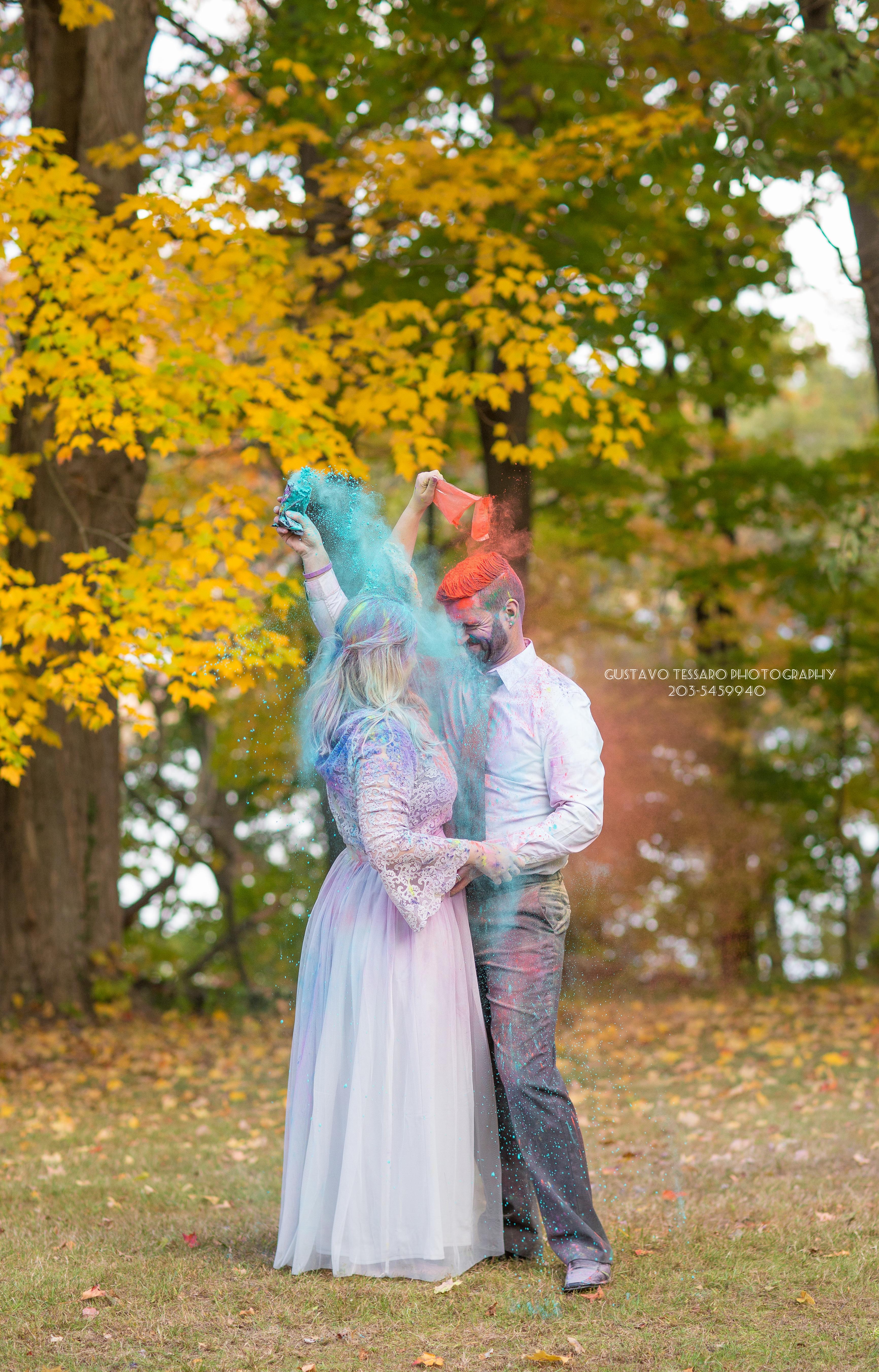 Bride and groom trash the dress