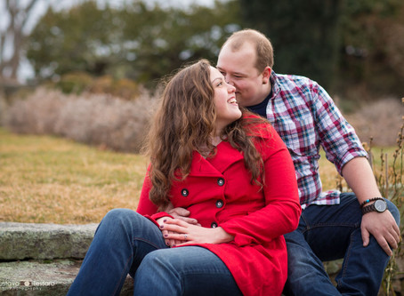 Heather & Chris - Engagement session at Harkness Park - Waterford CT