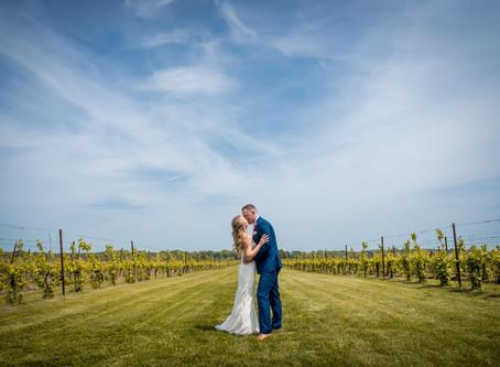 Katelyn & Mike's Wedding day - Saltwater Farm Vineyard
