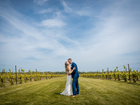 Katelyn & Mike's Wedding day - Saltwater Farm Vineyard