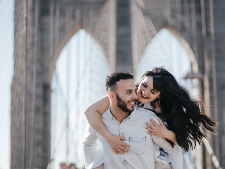 Nicole & Douglas - Brooklyn Bridge - NYC