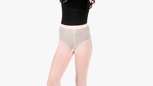 Girls Pink Footed Tights