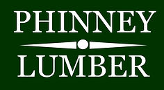 Phinney Logo White Text Green Background